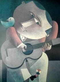 Inos Corradin - Gitaarspeler schilderij